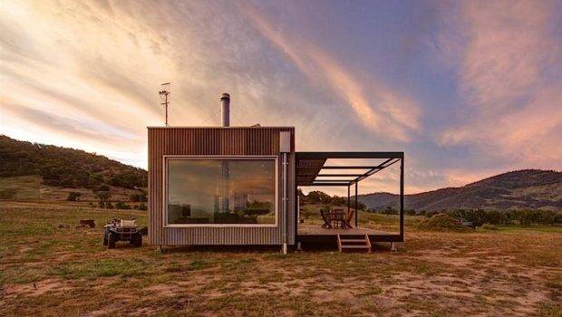 Minimalist Off Grid Modular Cabin Designed Disappear Into