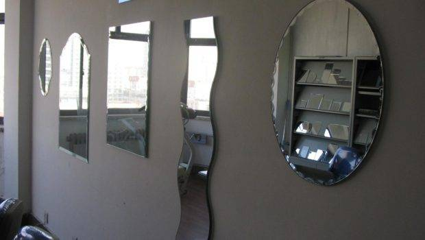 Mirror Different Shapes Wall Silver