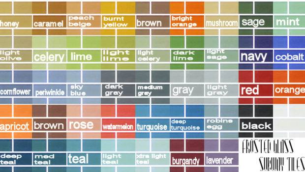 Mod Sims Frosted Glass Subway Tiles Colors