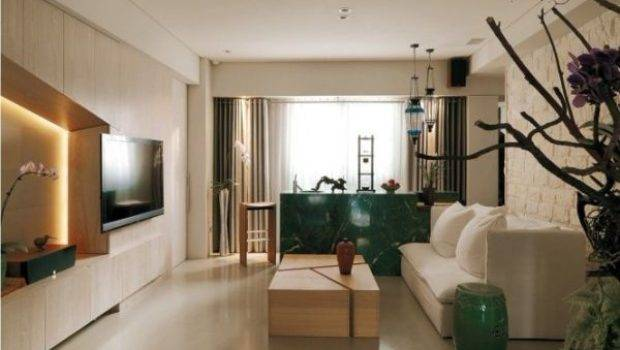 Modern Apartment Asian Inspired Interior