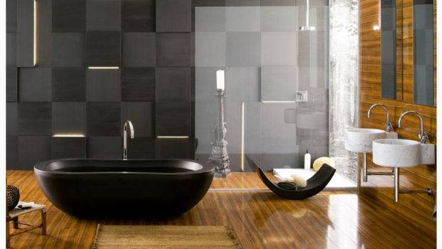 Modern Bath Wood Floors