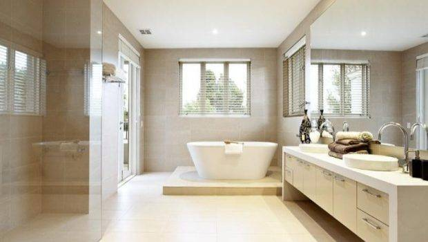 Modern Bathroom Design Fold Windows Using Frameless Glass