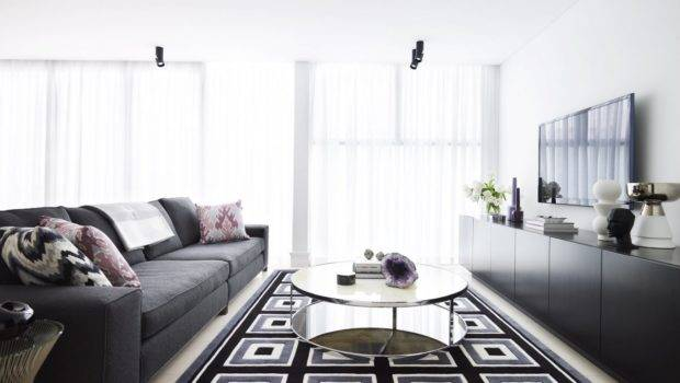 Modern Black Grey White Interiors Color