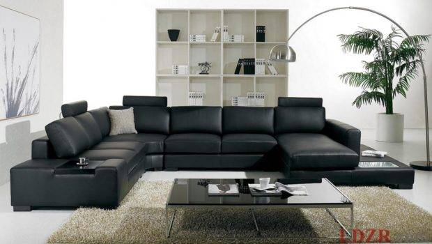 Modern Black Sofas Living Room