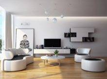 Modern Black White Living Room Furniture Interior Design Ideas