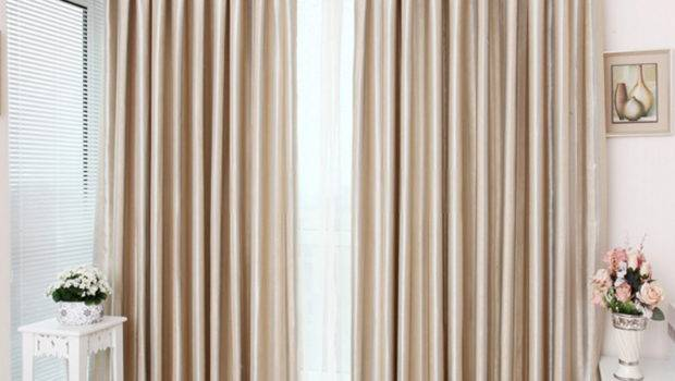 Modern Blackout Curtains Pure Ivory Color Gorgeous