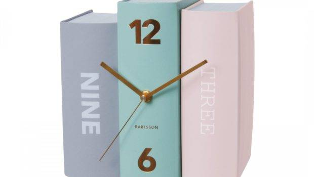 Modern Book Pastel Color Clock Everything