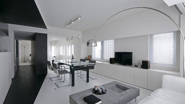 Modern Composition Black White Room Project Tokyo