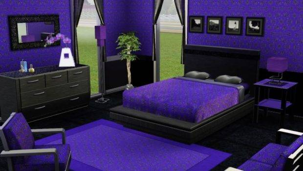Modern Dark Purple Bedrooms Decor Design Ideas