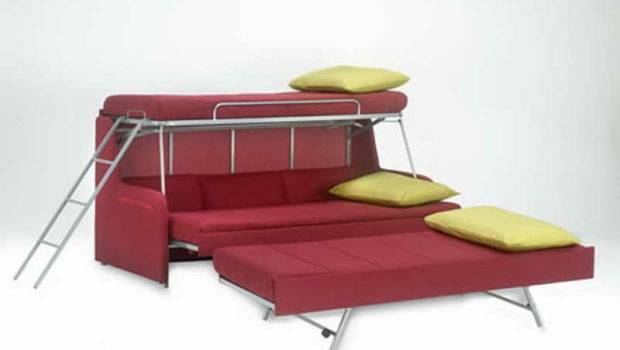 Modern Design Convertible Sofa Bunk Bed Home