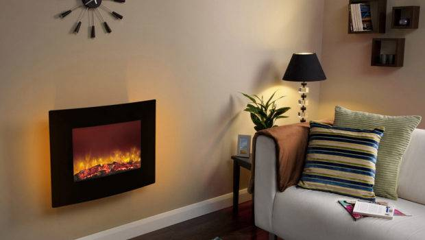 Modern Electric Fires Wall Mounted Remote