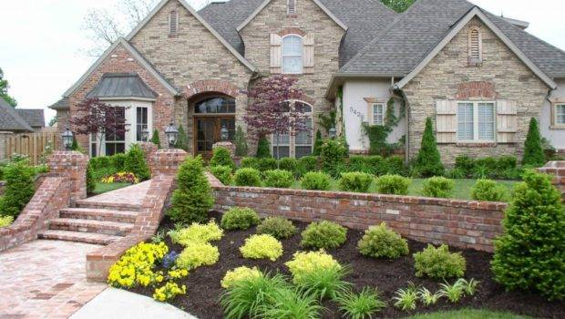 Modern Front Yard Landscaping Home Gardens Flowers