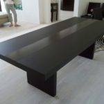 Modern Furniture Featuring Black Stained Wooden Long Dining Table