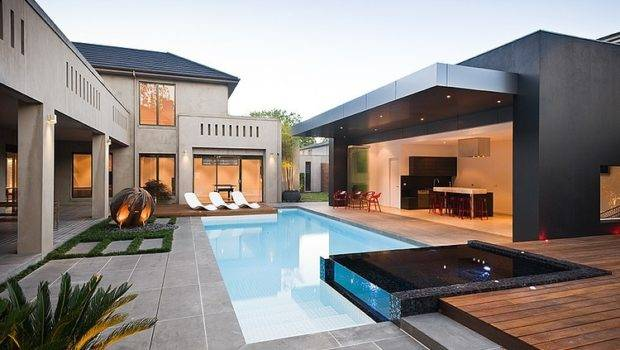 Modern Hard Structure Pool Landscape Design Designs