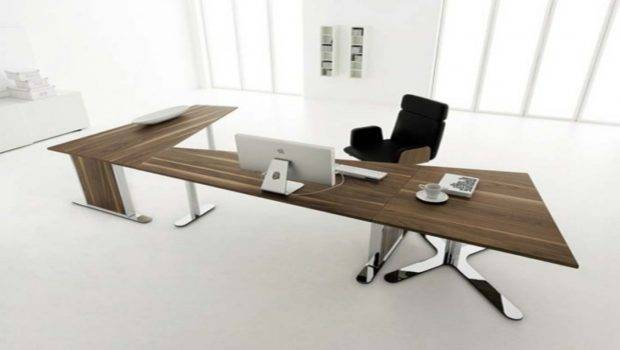 Modern Home Office Desk Design White Interior Decobizz