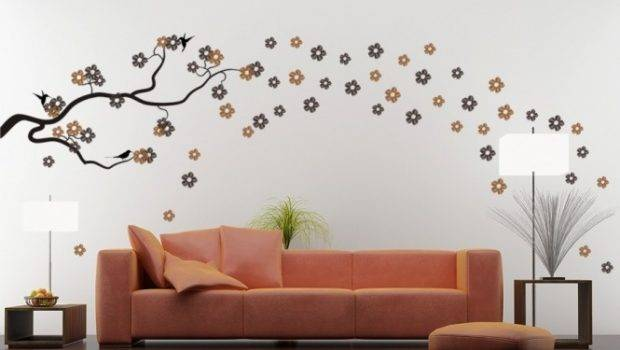 Modern Homes Interior Decoration Wall Painting Designs Ideas