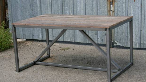 Modern Industrial Dining Table Desk Combine