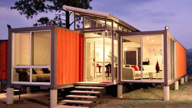 Modern Industrial Shipping Container Home