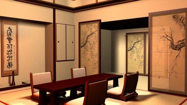 Modern Japanese Style House Peaceful Design Dining Room