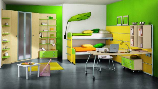 Modern Kids Room Green