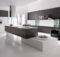 Modern Kitchen Black White Interior Design Architecture