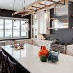 Modern Kitchen Has Some Small Rustic Elements Such Wooden