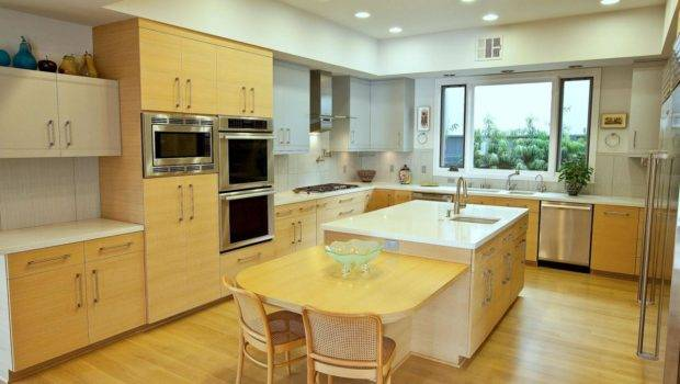 Modern Kitchen Oak Cabinets Flooring Scandinavian