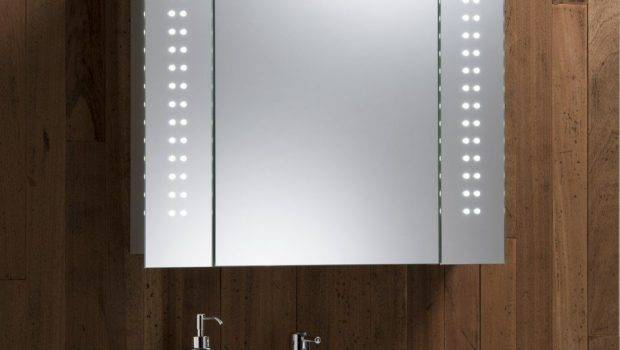 Modern Lighted Bathroom Mirror Cabinet Standalone