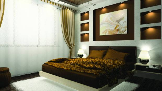 Modern Master Bed Room Floating Interior Design Small Spaces