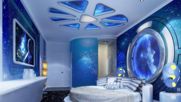 Modern Master Bedroom Designs Space Theme Stretch Ceiling