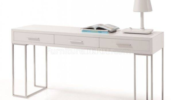 Modern Office Desk White Drawers Jmod