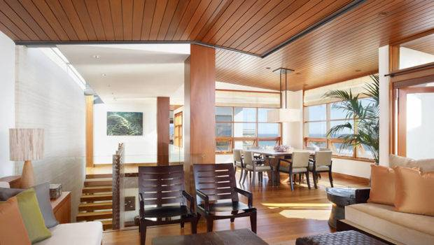 Modern Outlook Tropical House Interior Wood Architecture