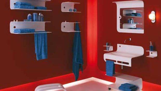 Modern Red Bathroom Design Awesome Colorful Ideas