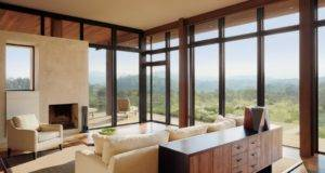 Modern Room Floor Ceiling Windows