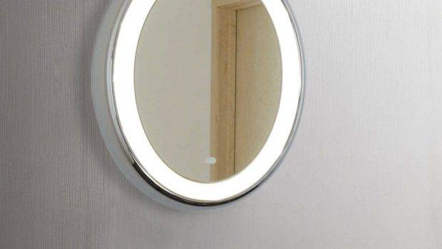 Modern Round Led Illuminated Bathroom Mirror Sensor