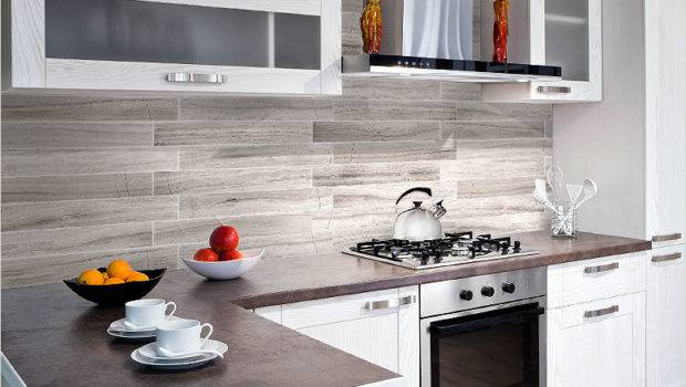 Modern Silver Gray Long Subway Marble Backsplash Tile