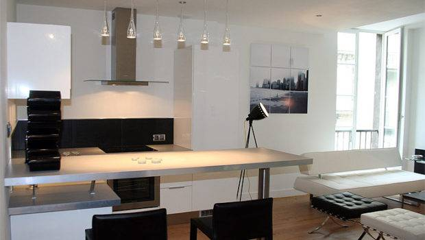 Modern Small Apartment Black White Best Home News