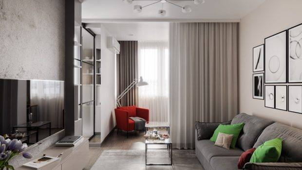 Modern Studio Apartments Glass Walled Bedrooms