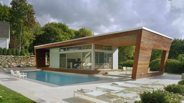 Modern Style Wooden Accent House Plans Pools Amusing