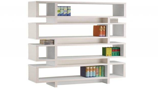 Modern White Bookcase Wall