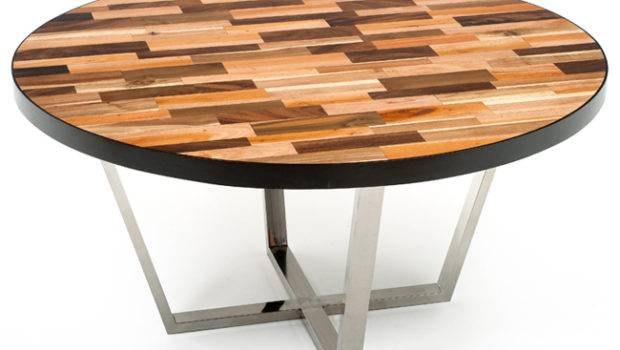 Modern Wood Dining Table Round Reclaimed