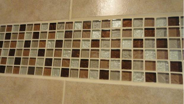 Mosaic Tile Bathroom Wall Accent Trimming Tiles