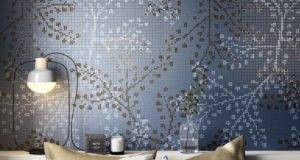 Mosaicopiu Mosaic Decor Gypso Blue Ambient Wall Bedroom Bed Room