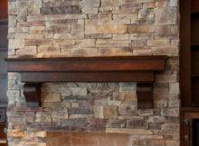 Mountain Ledge Stone Fireplace North Star