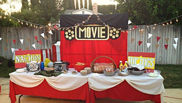 Movie Night Food Tables Party Ideas Pinterest