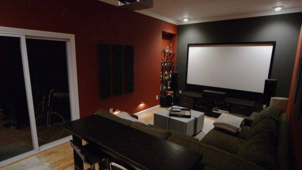 Movie Theater Room Projection Screen Wired Ceiling