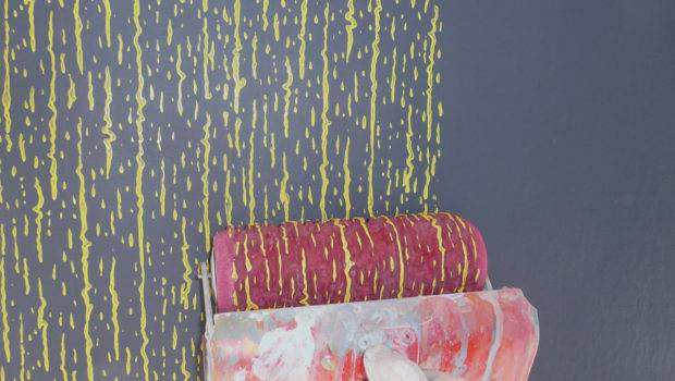 Multicolor Stripy Pattern Step Paint Rollers Decoroll