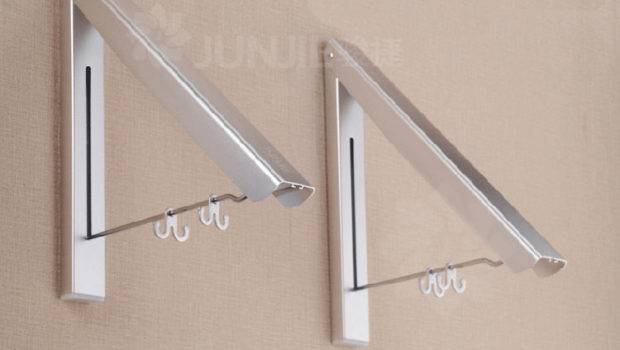 Multifunctiona Folding Drying Rack Wall Invisible Clothes Hanger