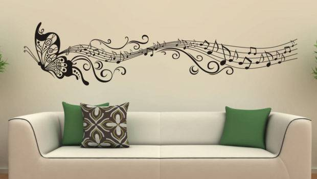 Music Butterfly Wall Decals Stickers Vinyl Looksbetter