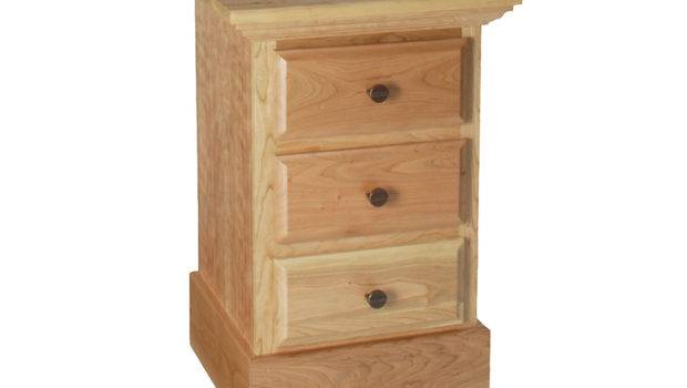 Narrow Bedside Table Oak Tall